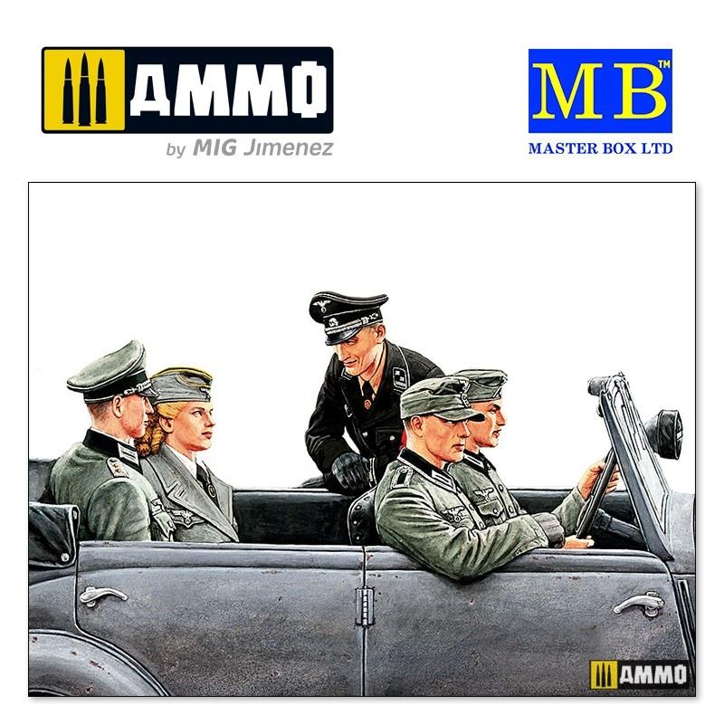 "Master Box Ltd ""Fräulein, what are you doing today? German military men, WW II era"" - Scale 1/35 - Masterbox Ltd - MBLTD3570"