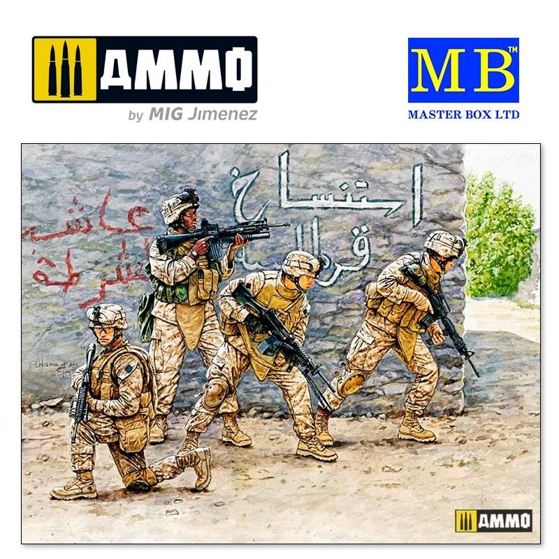 Master Box Ltd Iraq events. Kit #1, US Marines - Scale 1/35 - Masterbox Ltd - MBLTD3575