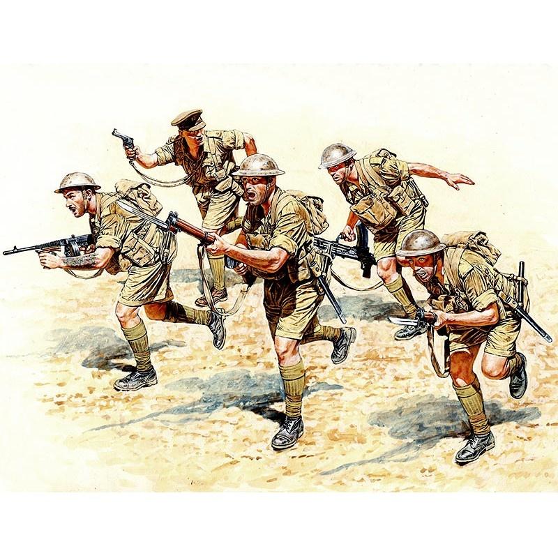 Master Box Ltd British Infantry in action, Northern Africa, WWII era - Scale 1/35 - Masterbox Ltd - MBLTD3580
