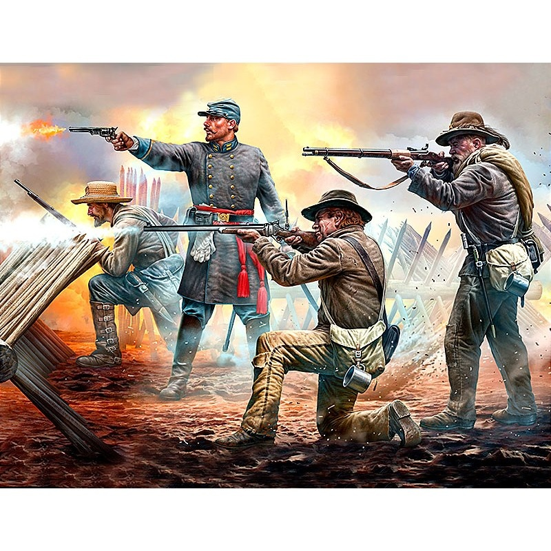 Master Box Ltd Do or die! 18th North Carolina Infantry Regiment, Army of Northern Virginia, Battle of Chancellorsville, May, 2nd, 1863. American Civil War Series. - Scale 1/35 - Masterbox Ltd - MBLTD3581