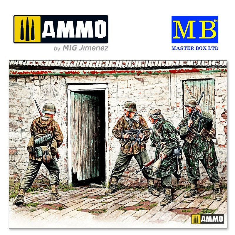 "Master Box Ltd ""German Infantry. Western Europe. 1944-1945"" - Scale 1/35 - Masterbox Ltd - MBLTD3584"