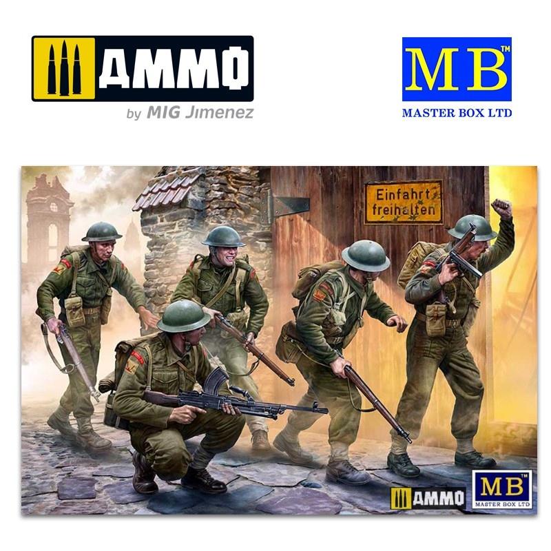 Master Box Ltd British Infantry. Western Europe. 1944-1945 - Scale 1/35 - Masterbox Ltd - MBLTD3585