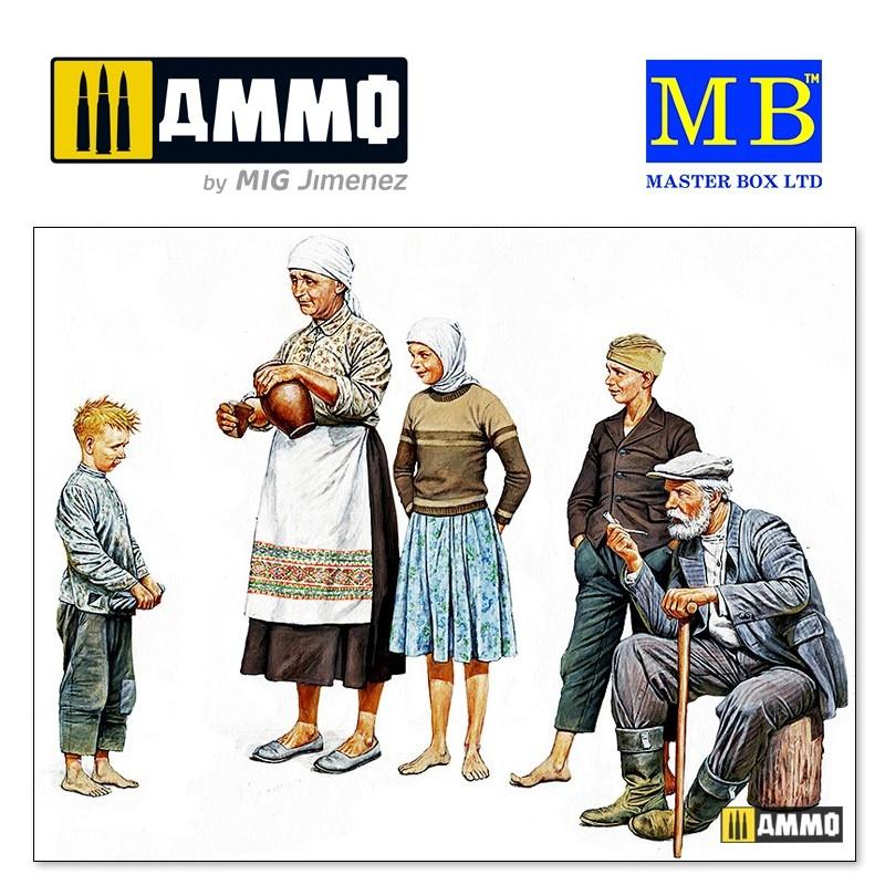 Master Box Ltd Eastern Region Peasants, WW II era - Scale 1/35 - Masterbox Ltd - MBLTD3588