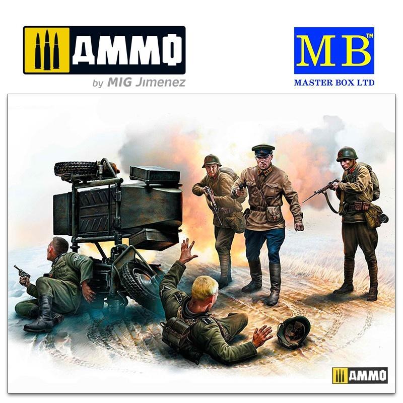 Master Box Ltd Accident. Soviet & German military men, summer 1941 - Scale 1/35 - Masterbox Ltd - MBLTD3590