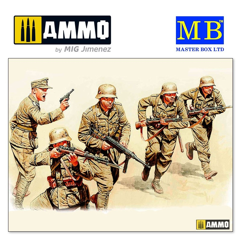 "Master Box Ltd ""German Infantry, DAK, WWII, North Africa desert battles series, Kit N 3"" - Scale 1/35 - Masterbox Ltd - MBLTD3593"