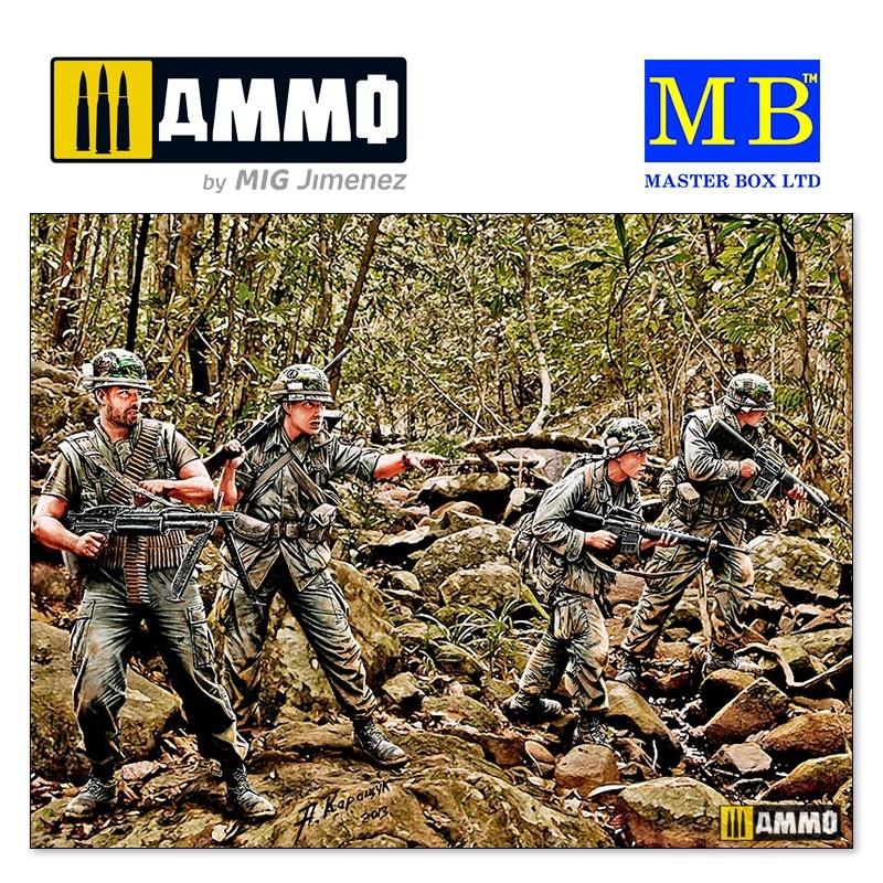 """Master Box Ltd """"Jungle Patrol, Vietnam War series"""" - Scale 1/35 - Masterbox Ltd - MBLTD3595"""