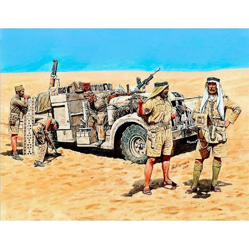 Master Box Ltd LRDG in North Africa, WWII era - Scale 1/35 - Masterbox Ltd - MBLTD3598