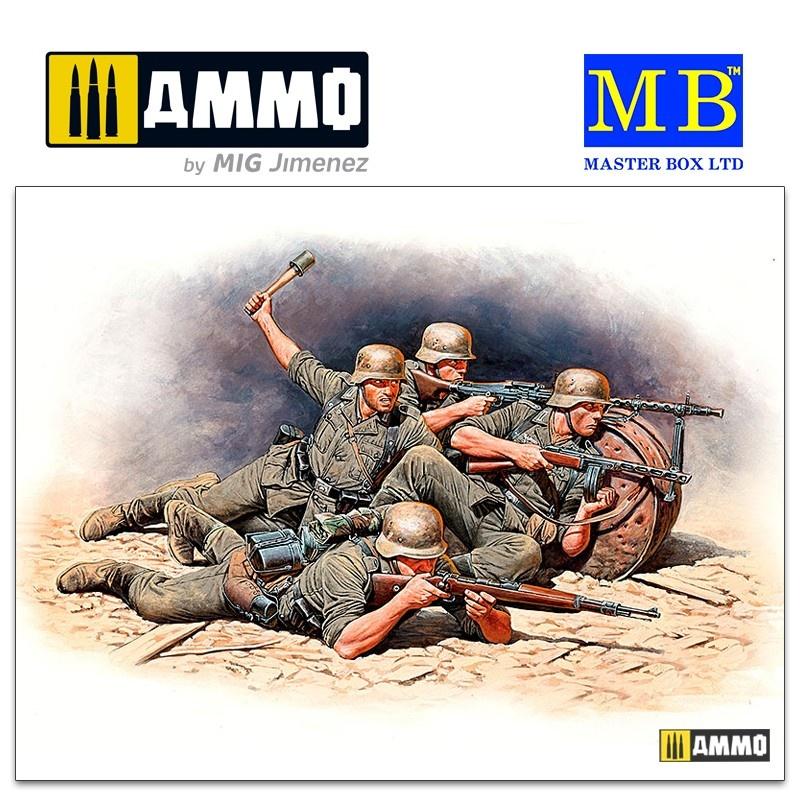 Master Box Ltd German Infantry Defense, Eastern Front Battle Series, Kit No.1 - Scale 1/35 - Masterbox Ltd - MBLTD35102