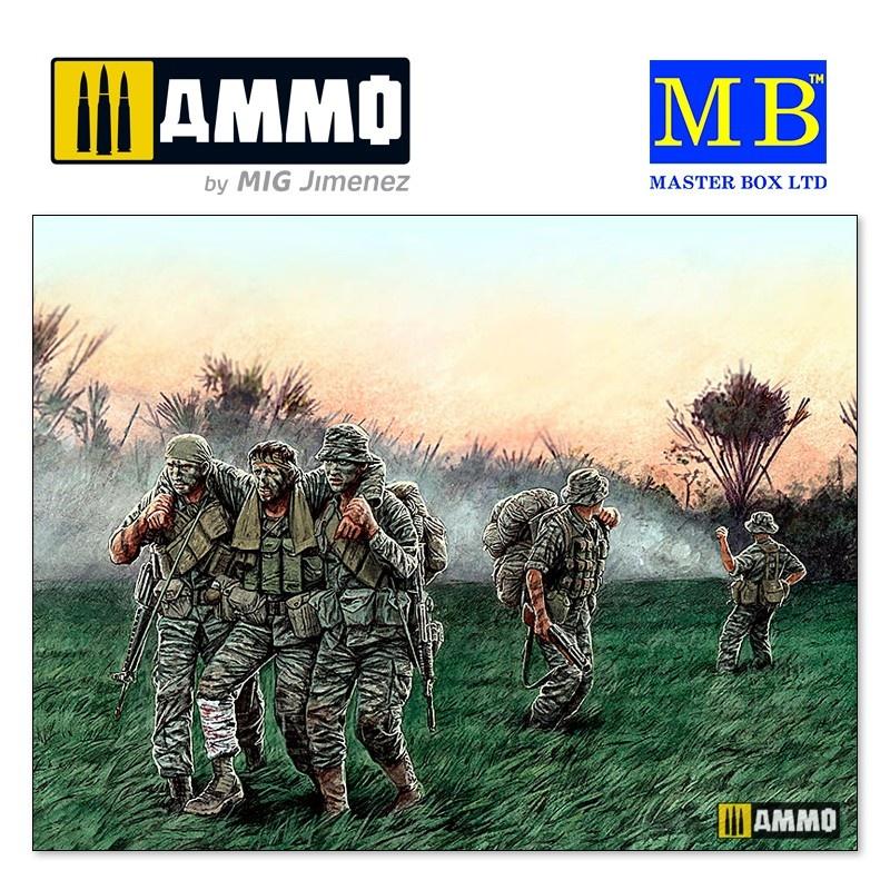 """Master Box Ltd """"Head for the """"Huey"""", Vietnam War series"""" - Scale 1/35 - Masterbox Ltd - MBLTD35107"""