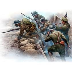 British Infantry before the attack, WWI era - Scale 1/35 - Masterbox Ltd - MBLTD35114