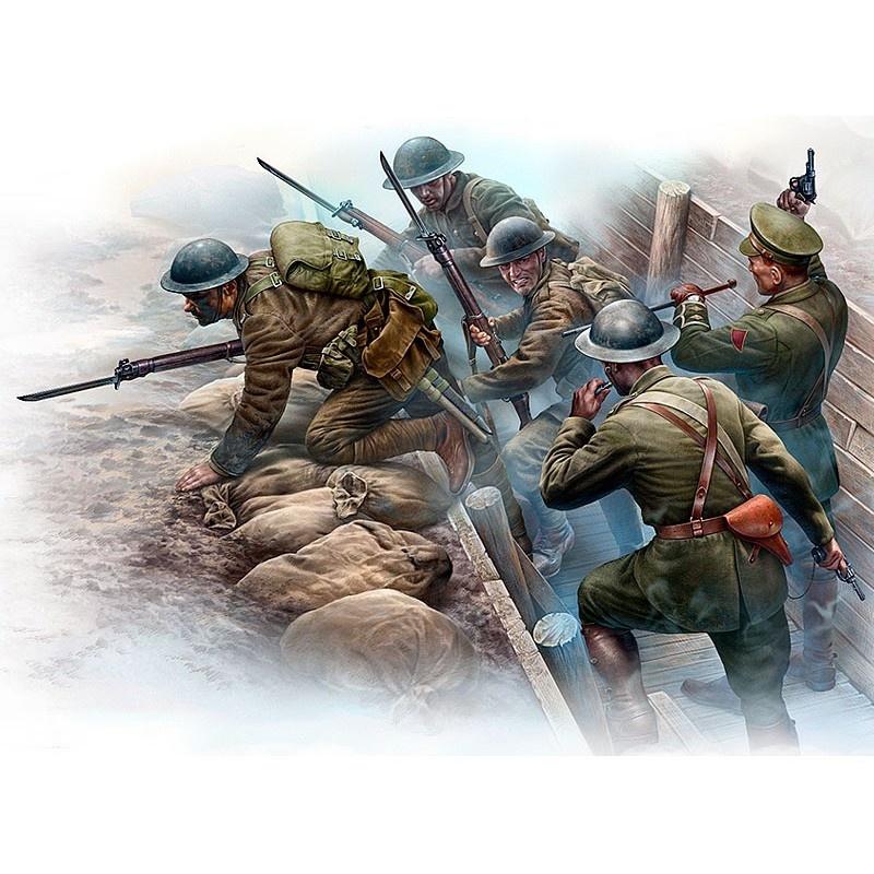 Master Box Ltd British Infantry before the attack, WWI era - Scale 1/35 - Masterbox Ltd - MBLTD35114