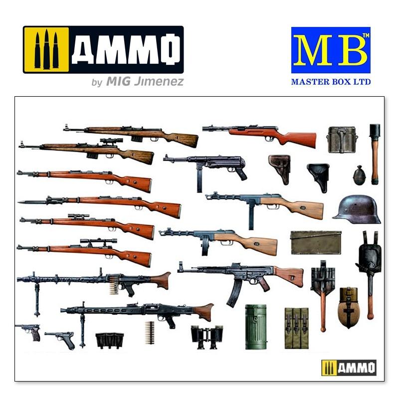 "Master Box Ltd German Infantry Weapons, WW II era"" - Scale 1/35 - Masterbox Ltd - MBLTD35115"
