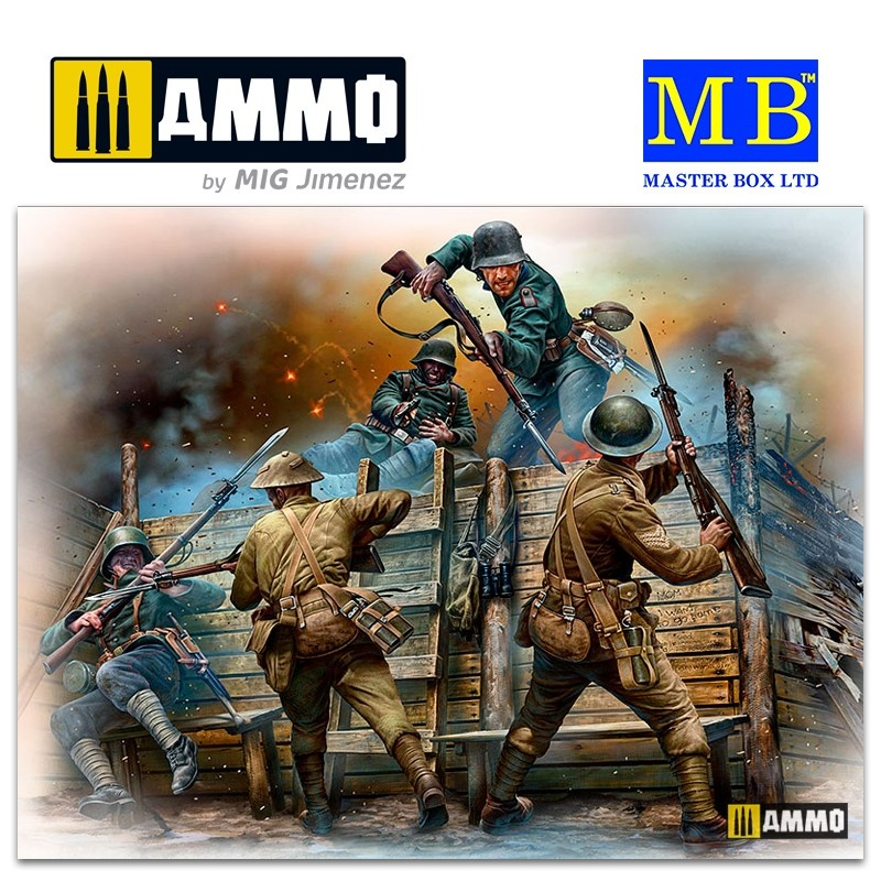 Master Box Ltd Hand-to-hand fight, German & British infantrymen, WW I era - Scale 1/35 - Masterbox Ltd - MBLTD35116