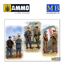 Tankmen of WWI era - Scale 1/35 - Masterbox Ltd - MBLTD35134