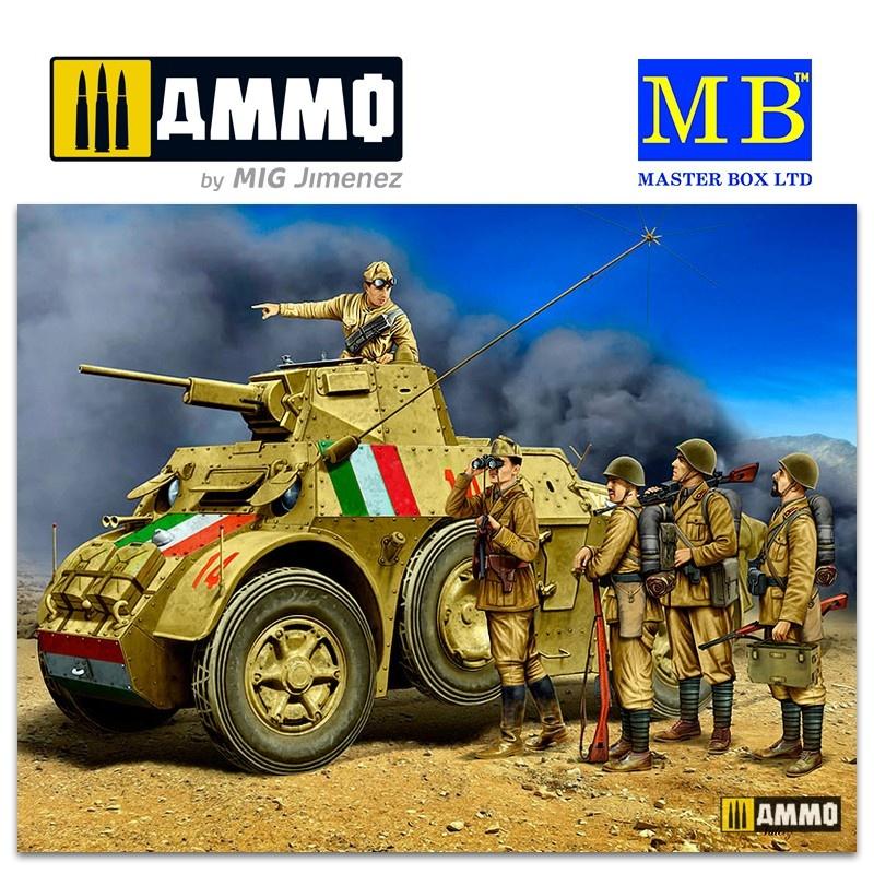Master Box Ltd Italian military men, WWII era - Scale 1/35 - Masterbox Ltd - MBLTD35144