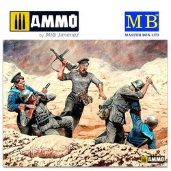 Soviet Marines and German Infantry, Hand-to-hand Combat, 1941-1942. Eastern Front Battle Series, Kit No.2 - Scale 1/35 - Masterbox Ltd - MBLTD35152