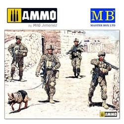 Modern US infantrymen. Cordon and Search - Scale 1/35 - Masterbox Ltd - MBLTD35154