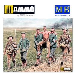 British and German soldiers, Somme Battle, 1916 - Scale 1/35 - Masterbox Ltd - MBLTD35158