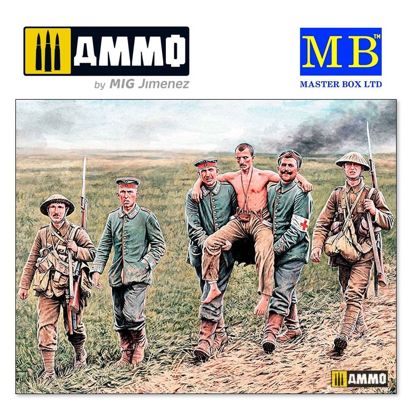 Master Box Ltd British and German soldiers, Somme Battle, 1916 - Scale 1/35 - Masterbox Ltd - MBLTD35158