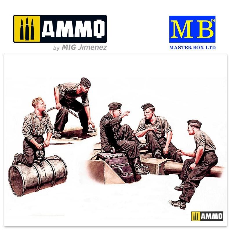 Master Box Ltd German Tankmen, WWII era - Scale 1/35 - Masterbox Ltd - MBLTD35160