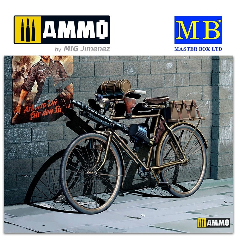 Master Box Ltd German Military Bicycle, WWII Era - Scale 1/35 - Masterbox Ltd - MBLTD35165