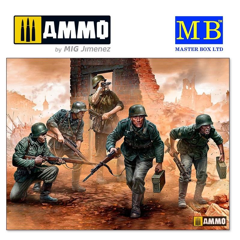 Master Box Ltd German Infantry, WWII era. Early period - Scale 1/35 - Masterbox Ltd - MBLTD35177