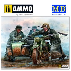 German Motorcyclists, WWII era - Scale 1/35 - Masterbox Ltd - MBLTD35178