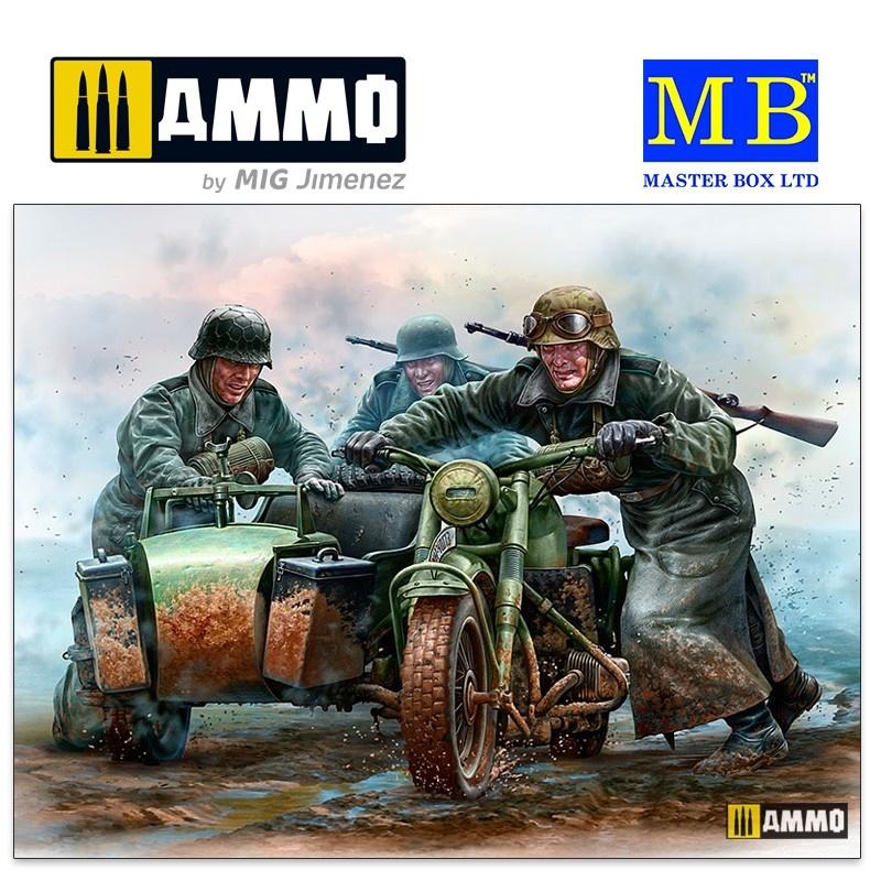 Master Box Ltd German Motorcyclists, WWII era - Scale 1/35 - Masterbox Ltd - MBLTD35178