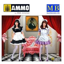 Maid café girls. Nana and Momoko - Scale 1/35 - Masterbox Ltd - MBLTD35186