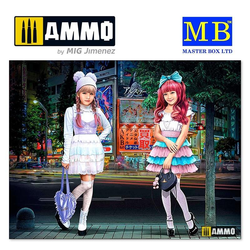 Master Box Ltd Kawaii fashion leaders. Minami and Mai - Scale 1/35 - Masterbox Ltd - MBLTD35187