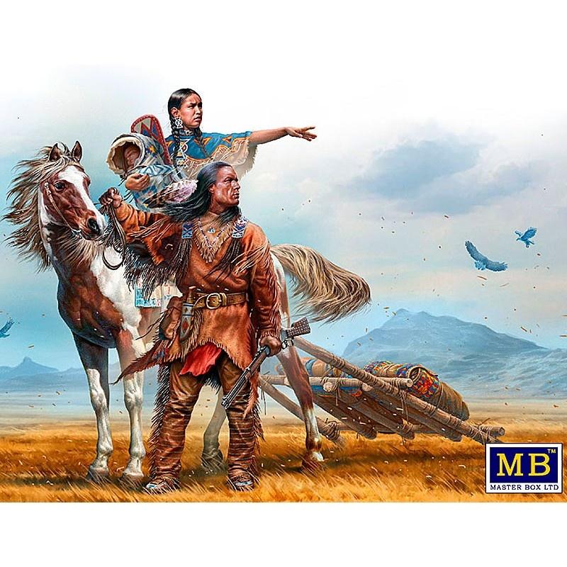 Master Box Ltd Indian Wars Series. On the Great Plains - Scale 1/35 - Masterbox Ltd - MBLTD35189