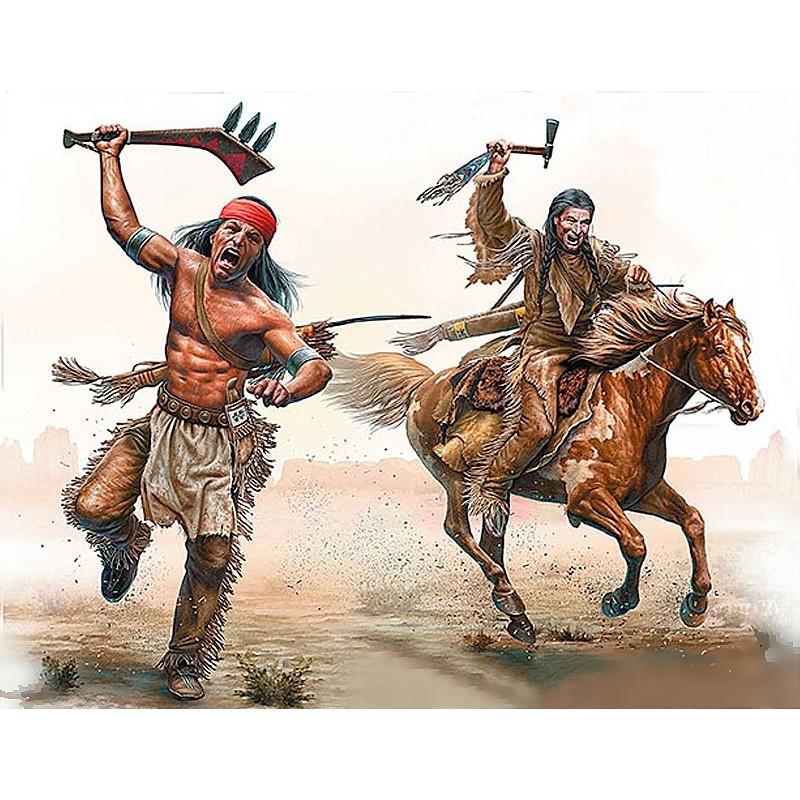 Master Box Ltd Indian Wars Series, kit No. 2. Tomahawk Charge - Scale 1/35 - Masterbox Ltd - MBLTD35192