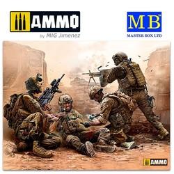 Under Fire. Modern US Infantry - Scale 1/35 - Masterbox Ltd - MBLTD35193