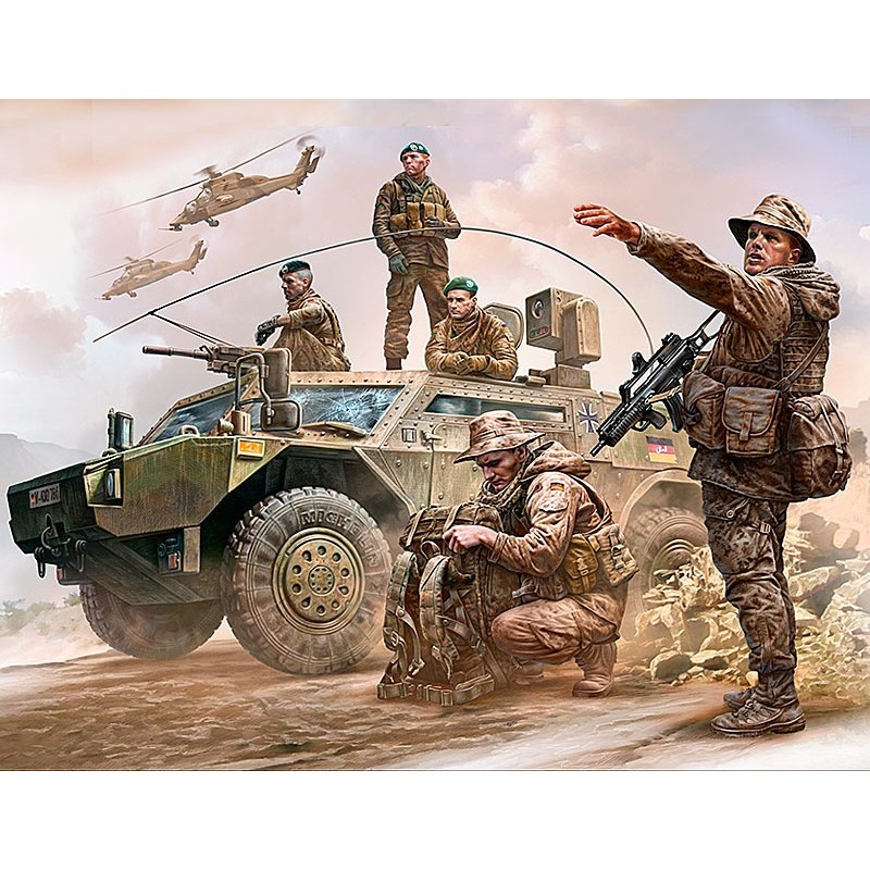 Master Box Ltd Bundeswehr. German Military Men, Present Day - Scale 1/35 - Masterbox Ltd - MBLTD35195