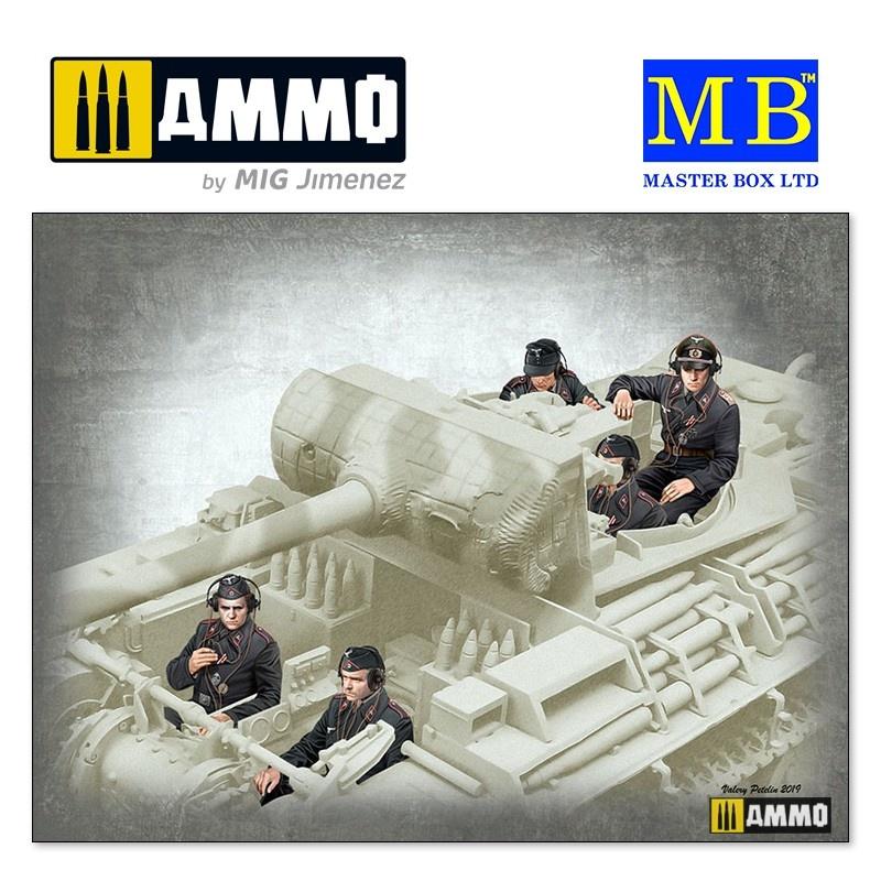 """Master Box Ltd """"German Tank Crew, 1944-1945"""" - Scale 1/35 - Masterbox Ltd - MBLTD35201"""