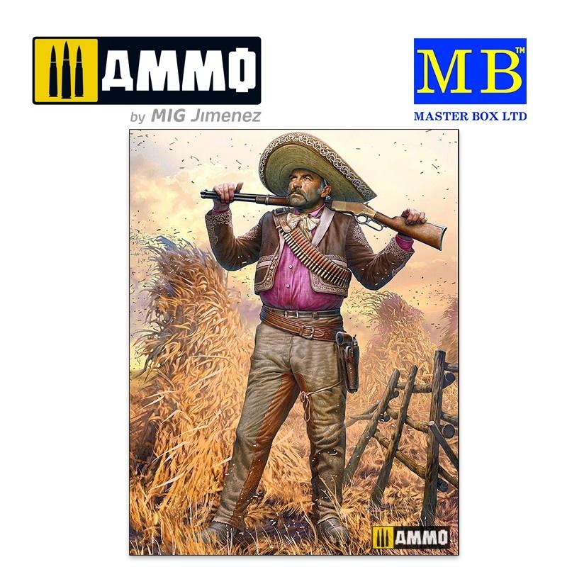Master Box Ltd Gunslinger series. Kit No. 3. Pedro Melgoza - Bounty Hunter - Scale 1/35 - Masterbox Ltd - MBLTD35205