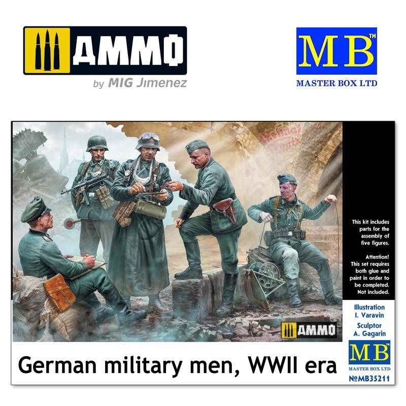 Master Box Ltd German military men, WWII era - Scale 1/35 - Masterbox Ltd - MBLTD35211