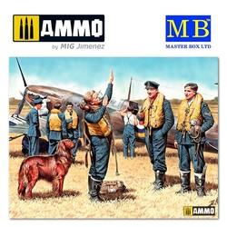 RAF Pilots, WW II Era - Scale 1/35 - Masterbox Ltd - MBLTD3206