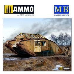MK I Male British Tank, Somme Battle period, 1916 - Scale 1/35 - Masterbox Ltd - MBLTD72001