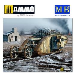 MK I Female British Tank, Somme Battle period, 1916 - Scale 1/35 - Masterbox Ltd - MBLTD72002