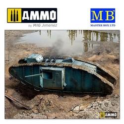 MK II Male British Tank, Arras Battle period, 1917 - Scale 1/35 - Masterbox Ltd - MBLTD72005