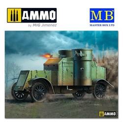 British Armoured Car, Austin, MK III, WW I Era - Scale 1/35 - Masterbox Ltd - MBLTD72007