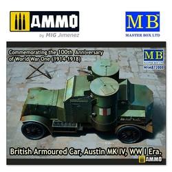 British Armoured Car, Austin, MK IV, WW I Era - Scale 1/35 - Masterbox Ltd - MBLTD72008