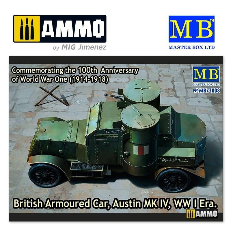 Master Box Ltd British Armoured Car, Austin, MK IV, WW I Era - Scale 1/35 - Masterbox Ltd - MBLTD72008