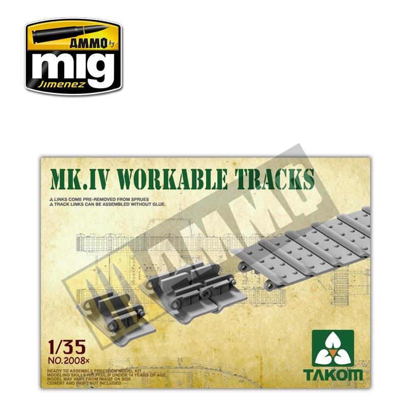 Takom Mark IV Workable Tracks [Cement-free] - Scale 1/35 - Takom - TAKO2008x
