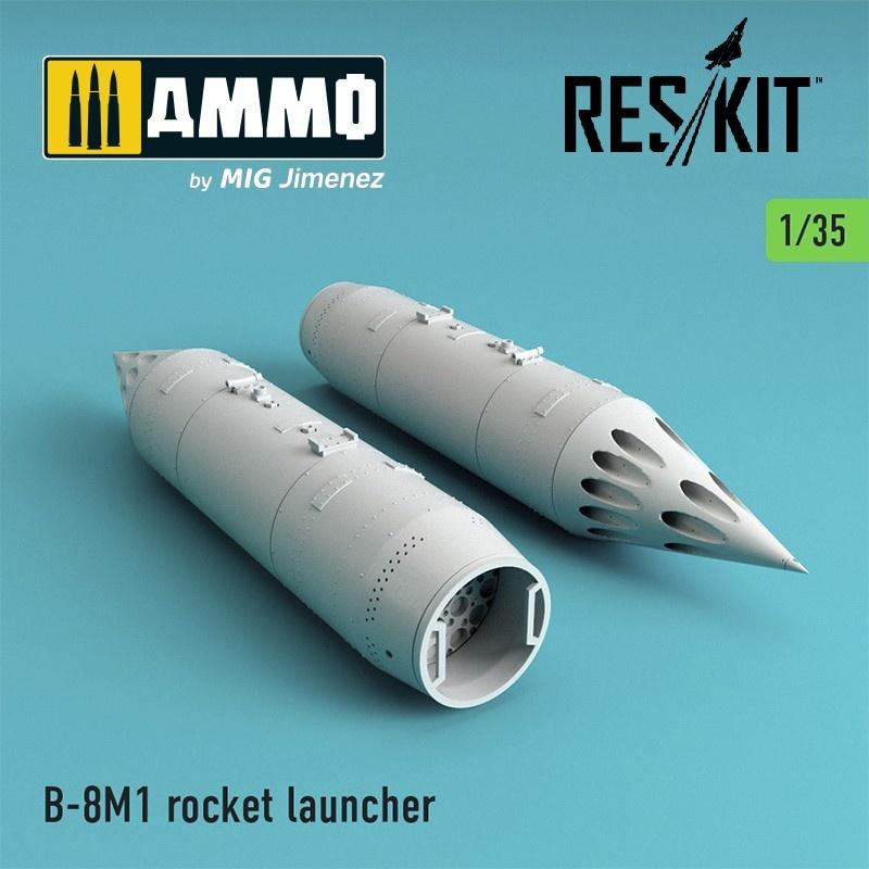 Reskit B-8M1 (2 pcs) MT-LB, UAZ, Pickup w/ZPU-2, BMP-2, Toyota Hilux, BTR-70, URAL - Scale 1/35 - Reskit - RS35-0002