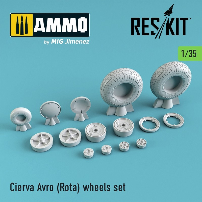 Reskit Cierva Avro (Rota) wheels set - Scale 1/35 - Reskit - RS35-0001