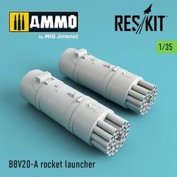 B8V20-А rocket launcher (2 pcs) (Mi-24, Mi-8,Toyota Hilux, BTR-70, URAL) - Scale 1/35 - Reskit - RS35-0003