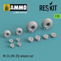 Mi-24 (Mi-35) wheels set - Scale 1/35 - Reskit - RS35-0006