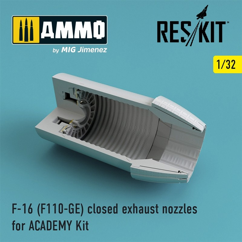 Reskit F-16 (F110-GE) closed exhaust nozzles for ACADEMY Kit - Scale 1/32 - Reskit - RSU32-0032
